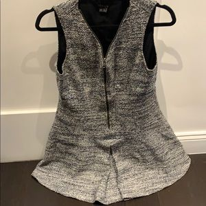 Tweed grey blue theory dress
